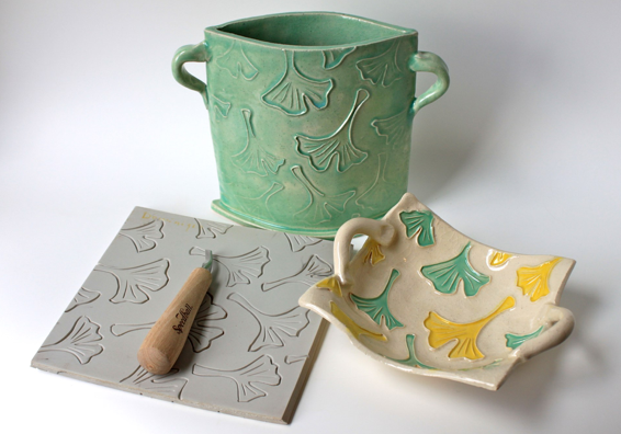 Linoleum Impressed Clay Boxes Downloads Linoclaypdf Linoleum